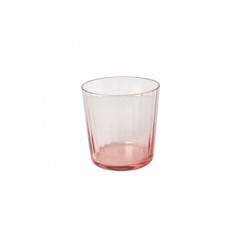 Murano glass pleated pink small