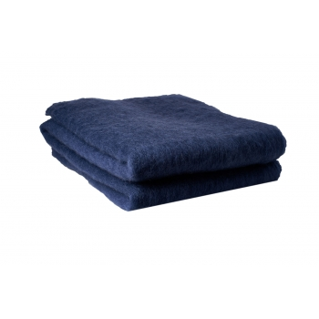 Plaid mohair indigo