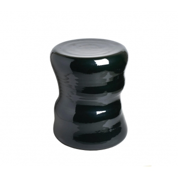 Tabouret organique dark green