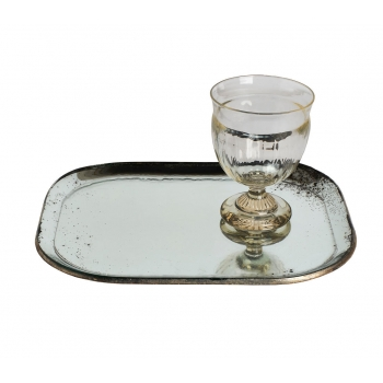 Alice mirrored tray small
