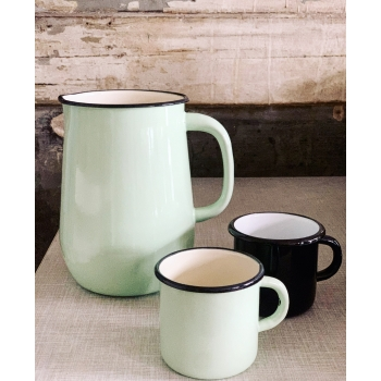 Celadon enamel pitcher