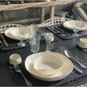 Assiette bol blanc S