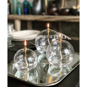 Glassball oil lamp large