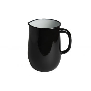 Black enamel pitcher