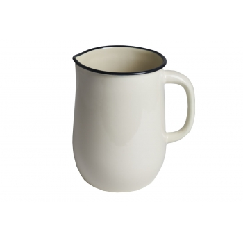 CREAM ENAMEL PITCHER
