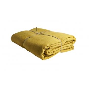 Pre washed linen duvet cover Safran