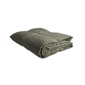 Pre washed linen duvet cover kaki