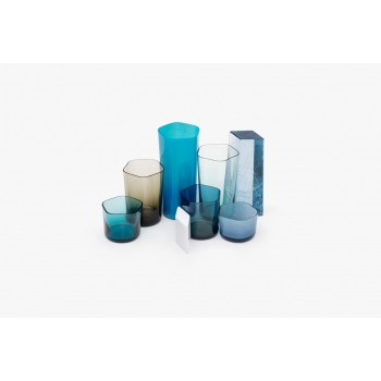 6 polygon glassware set