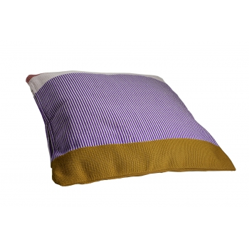 Maraca cushion purpura/rojo