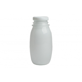 Vase bouteille lait verre blanc