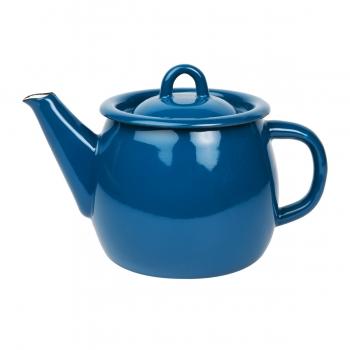 Theiere émail bleu