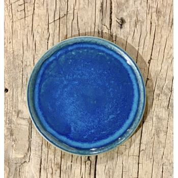 Assiette grès 21cm bleu
