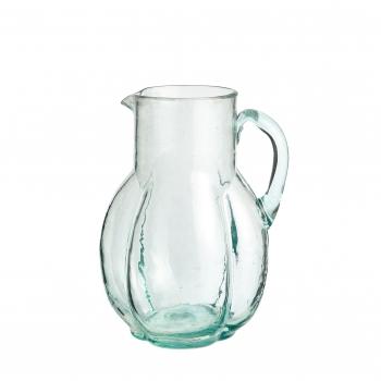 Carafe en verre soufflée transparente
