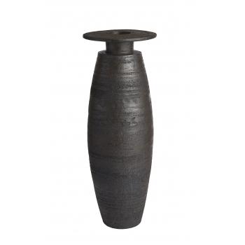 Vase gres laque tube plateau