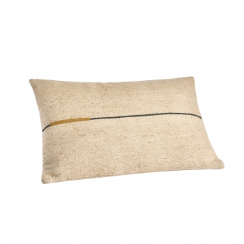Coussin ortie ocre 40x60