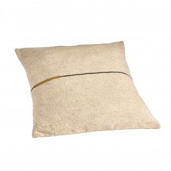 Coussin ortie ocre 60x60