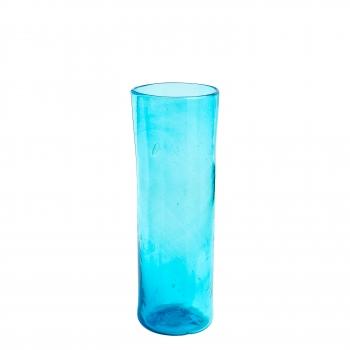 Vase droit turquoise