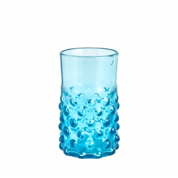 Verre bulle turquoise