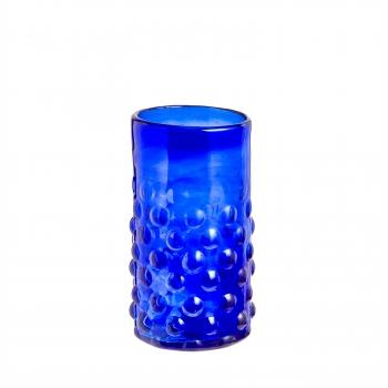 Verre bulles bleu