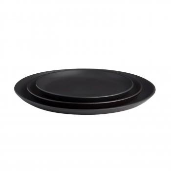 Assiette 24cm noir mat