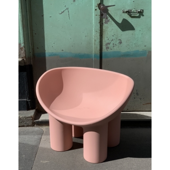 Fauteuil roly poly pink carne