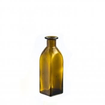 Fiole verre ambre