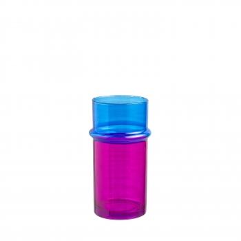 Vase Morocco s pink/blue