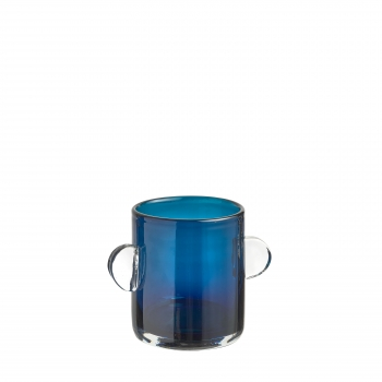 Vase wind & fire bleu