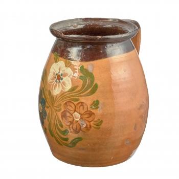 Jarre ancienne de Transylvanie motif fleurs