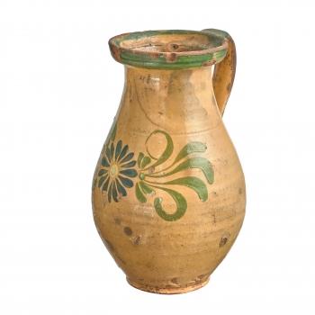 Pichet ancien de Transylvanie, motif fleurs
