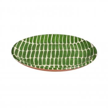 Assiette trait vert