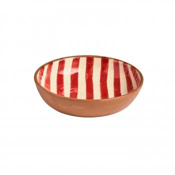 Saladbowl raye large rouge