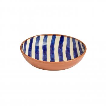Saladbowl raye large bleu