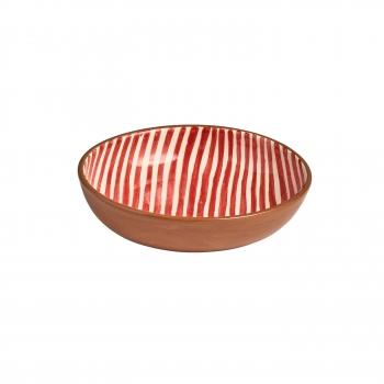 Saladbowl raye rouge