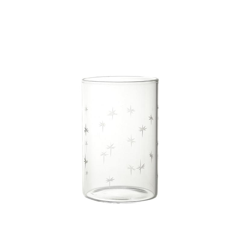 verre etoiles gravée