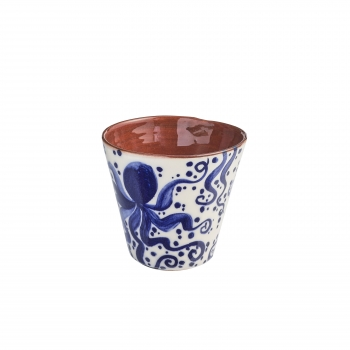Verre faience rouge