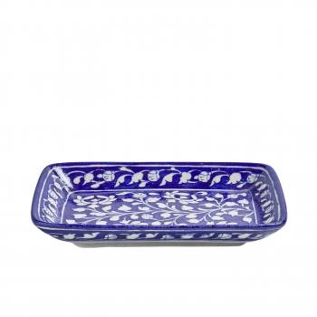 Plateau ceramique bleu