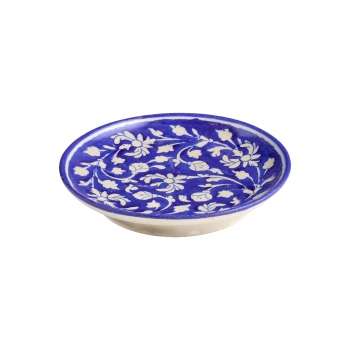 Assiette bleu fleurs