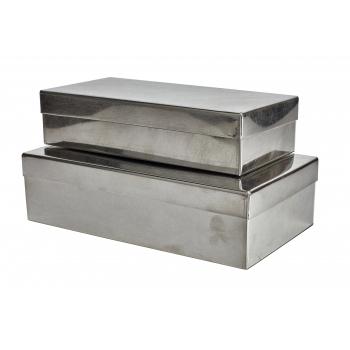 Boîte rectangulaire fer blanc S
