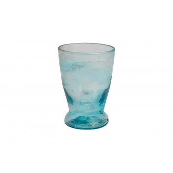 Verre pied bas turquoise