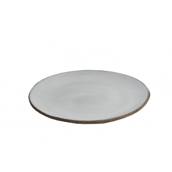 Assiette patch white gm